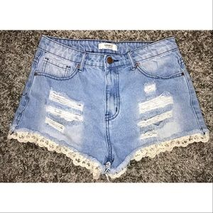 Forever 21 Lace Detailed Shorts